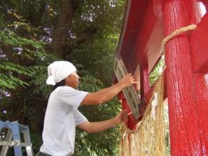 神社鳥居塗装 社会貢献
