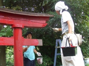 社会貢献 神社鳥居塗装